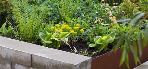 Chelsea flower show inspiration corteenstål betong